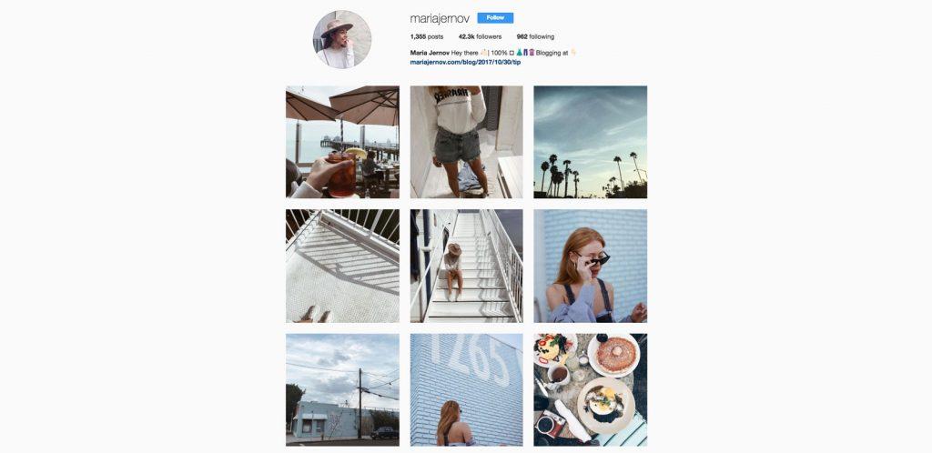 Maria Jernov Instagram profile