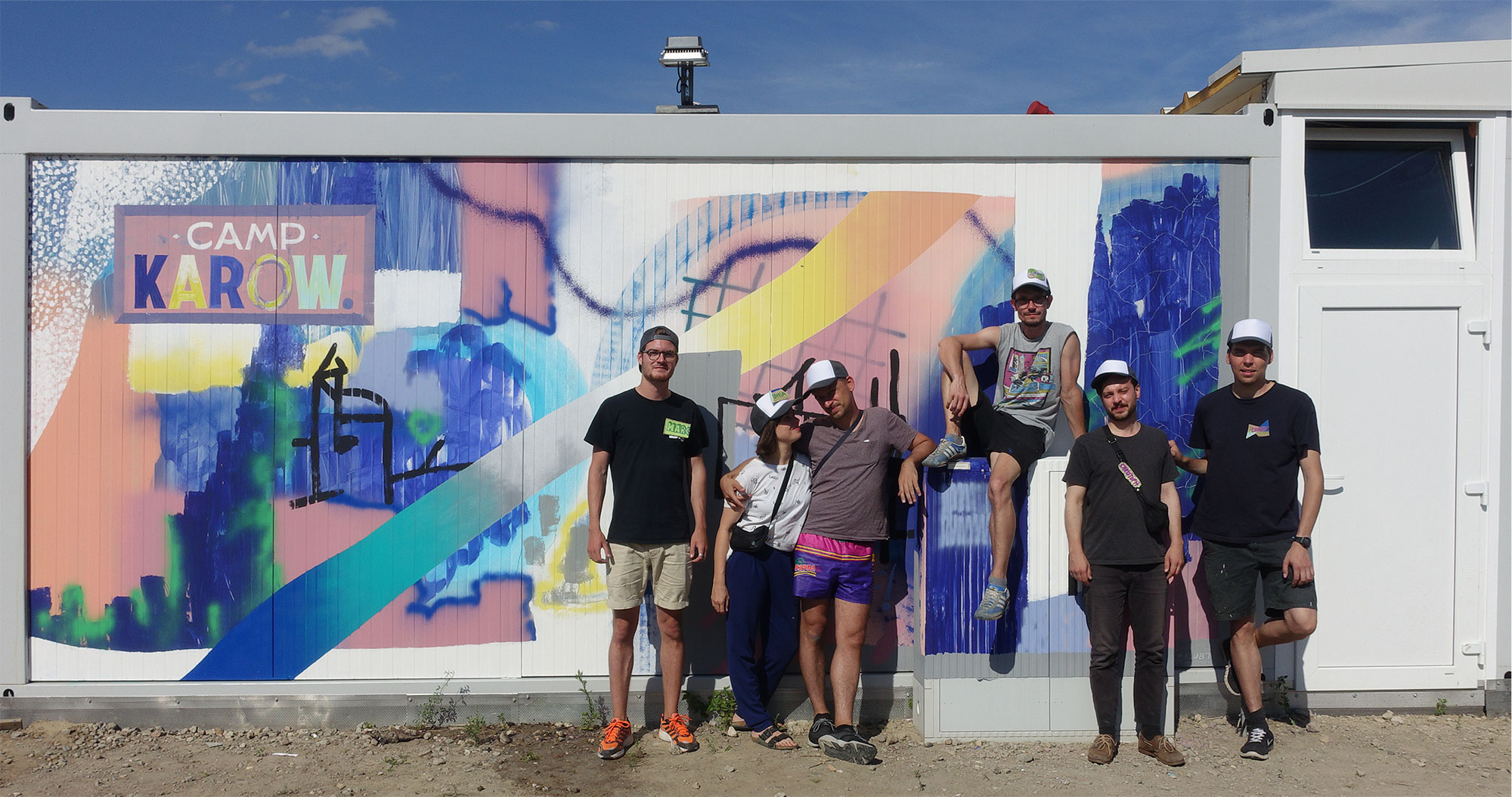 The finished team after we painted a mural